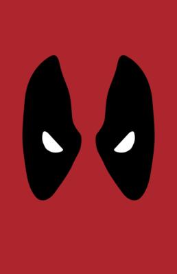 Minimalist design of Marvel's Deadpool mask by Minimalist Heroes