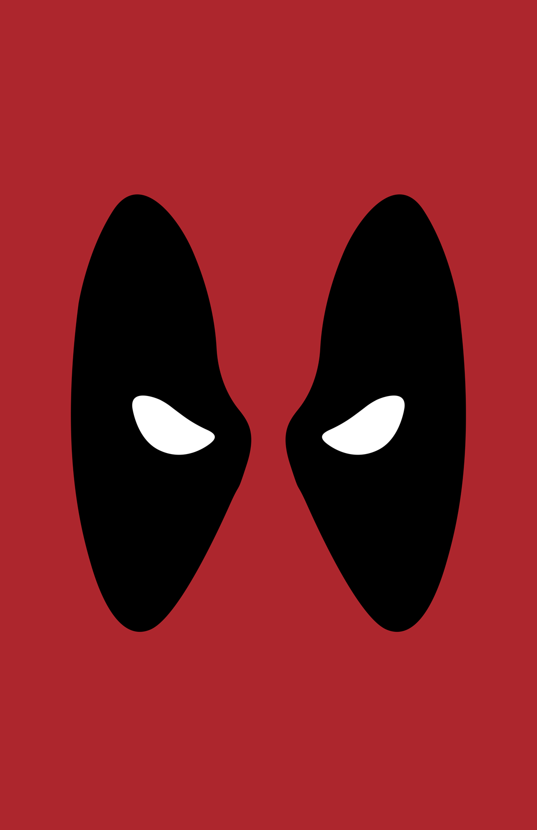 Deadpool minimalist mask design by Minimalist Heroes.
