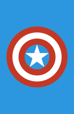 Minimalist design of Marvel's Captain America weapon by Minimalist Heroes