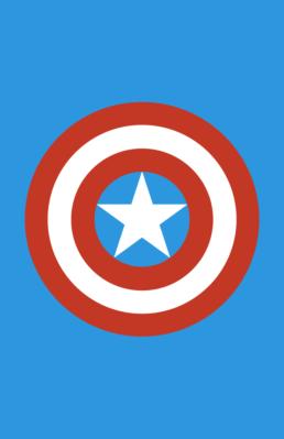 Minimalist design of Marvel's Captain America weapon by Minimalist Heroes