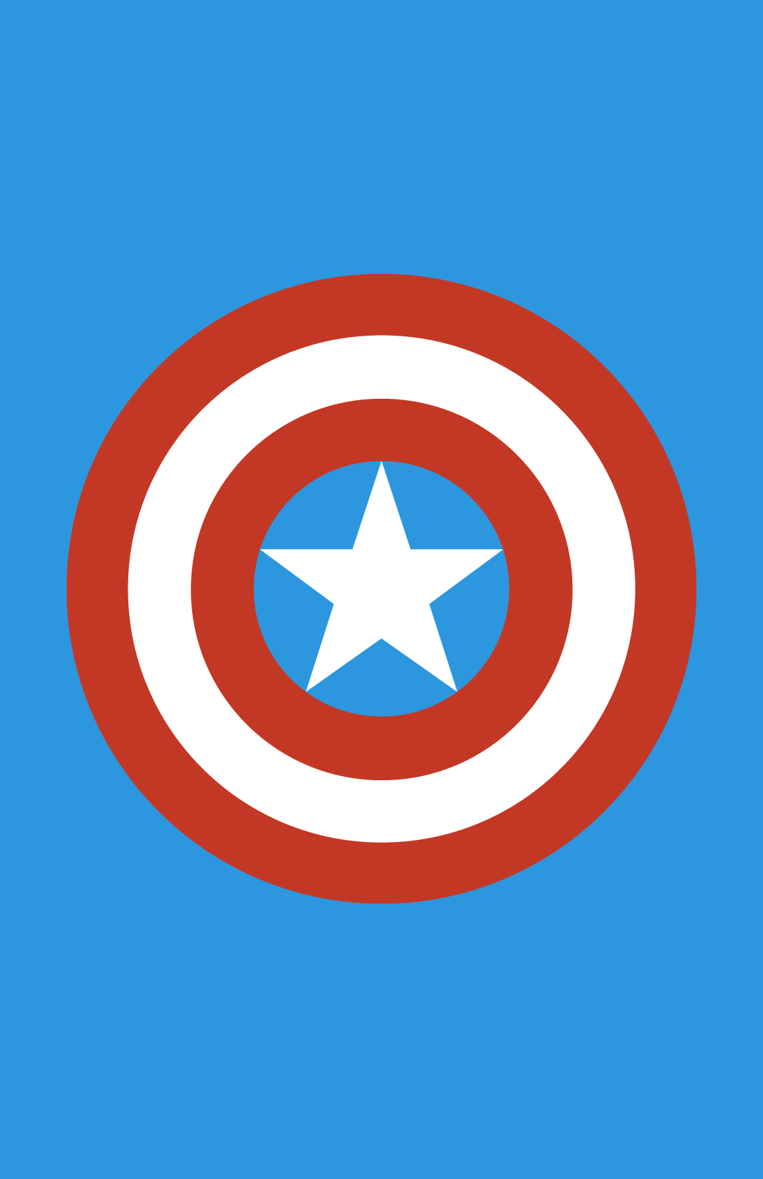Captain America minimalist weapon design by Minimalist Heroes.