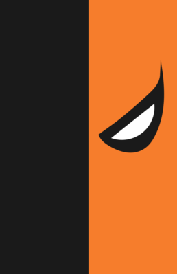 Minimalist design of DC Comics's Deathstroke mask by Minimalist Heroes