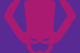 Minimalist design of Marvel's Galactus helmet by Minimalist Heroes