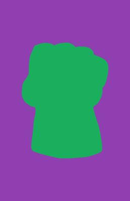 Minimalist design of Marvel's Hulk weapon by Minimalist Heroes