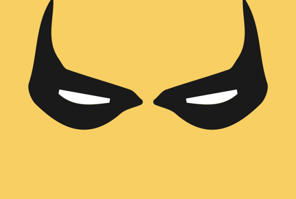 Iron Fist minimalist mask design by Minimalist Heroes.