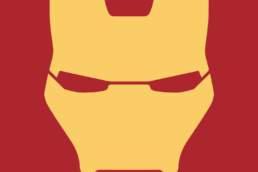 Minimalist design of Marvel's Iron Man helmet by Minimalist Heroes