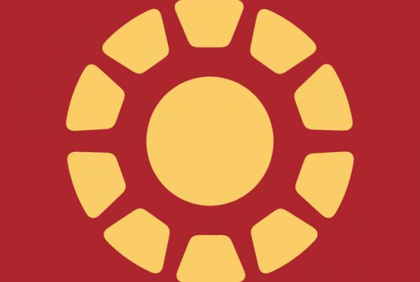 Iron Man minimalist weapon design by Minimalist Heroes.