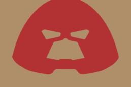Minimalist design of Marvel's Juggernaut helmet by Minimalist Heroes