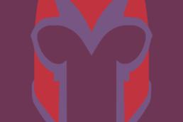 Minimalist design of Marvel's Magneto helmet by Minimalist Heroes