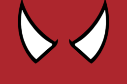 Minimalist design of Marvel's Spider-Man mask by Minimalist Heroes