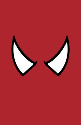 Minimalist design of Marvel's Spider-Man mask by Minimalist Heroes