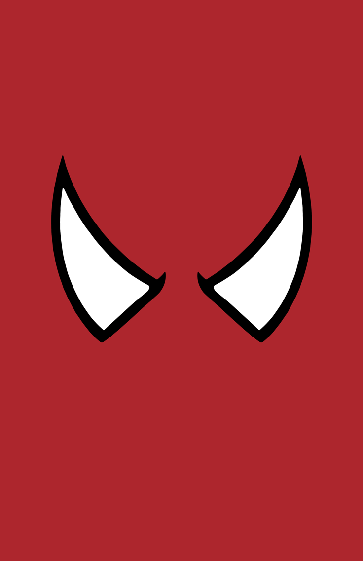 Spider-Man minimalist mask design by Minimalist Heroes.
