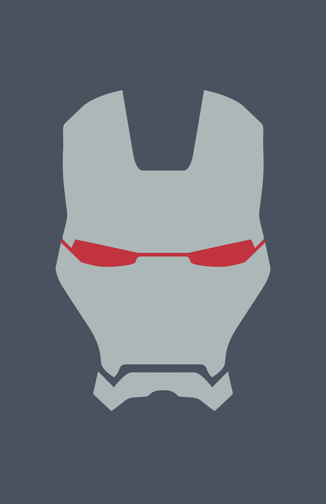 War Machine minimalist helmet design by Minimalist Heroes