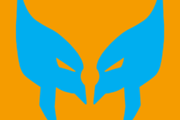 Minimalist design of Marvel's Wolverine mask by Minimalist Heroes