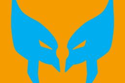 Minimalist design of Marvel's Wolverine mask by Minimalist Heroes