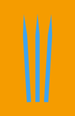 Minimalist design of Marvel's Wolverine weapon by Minimalist Heroes