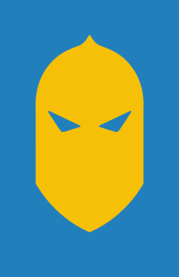 Minimalist design of DC Comics Doctor Fate helmet by Minimalist Heroes