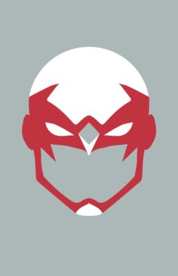 Minimalist design of DC Comics Hawk mask by Minimalist Heroes