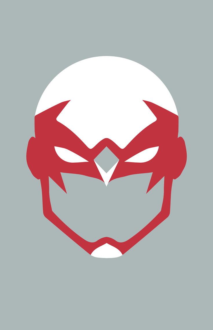 Hawk minimalist mask design by Minimalist Heroes.