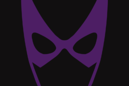 Minimalist design of DC Comics Huntress mask by Minimalist Heroes