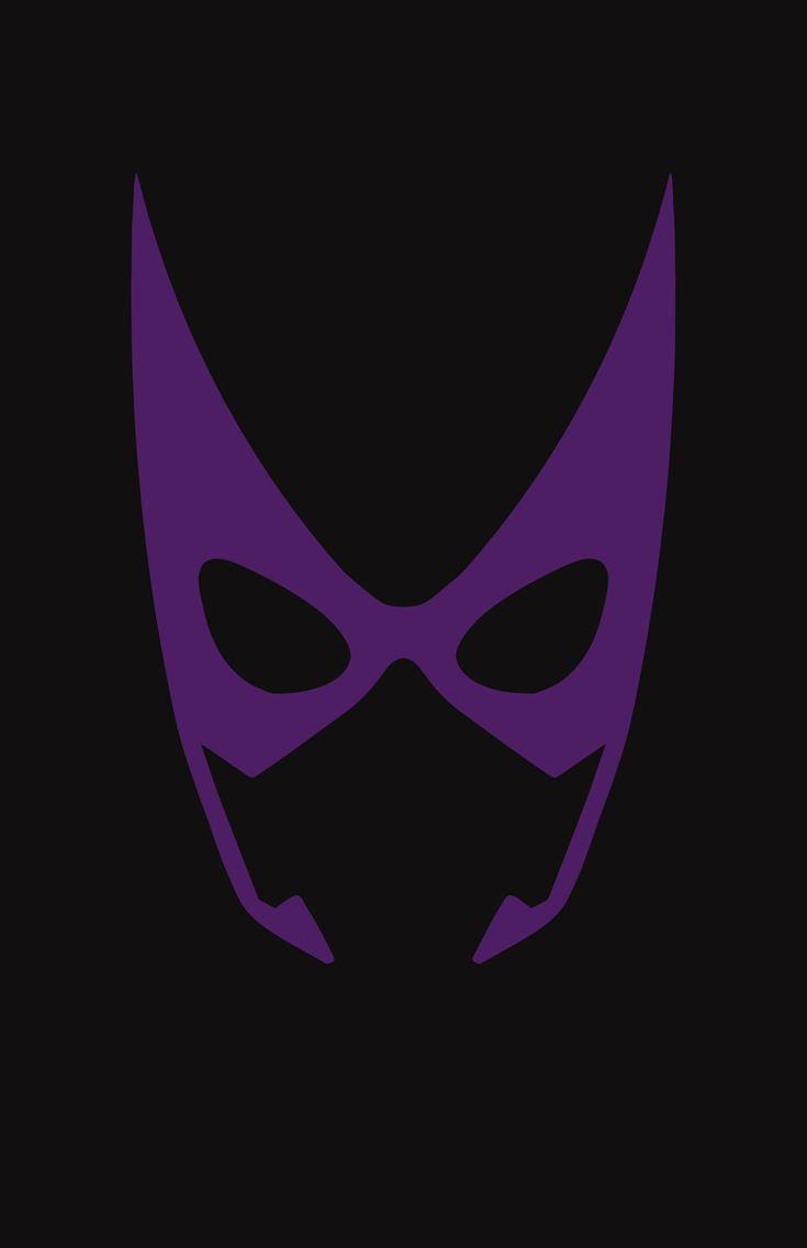 Huntress minimalist mask design by Minimalist Heroes.