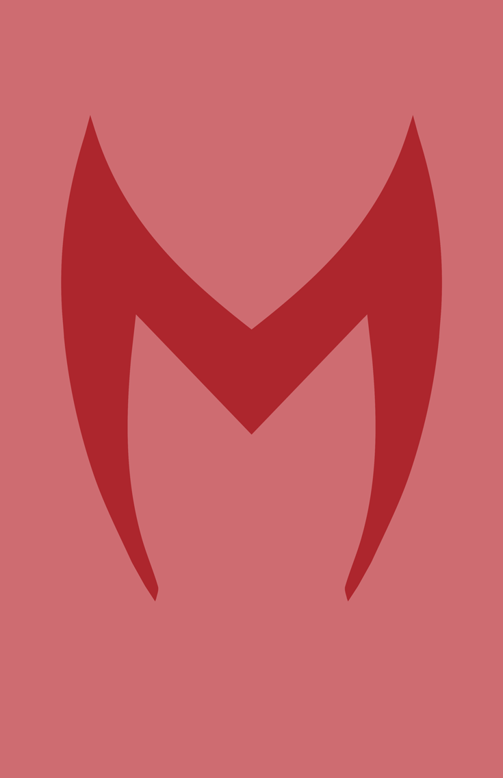 Scarlet Witch minimalist mask design by Minimalist Heroes.