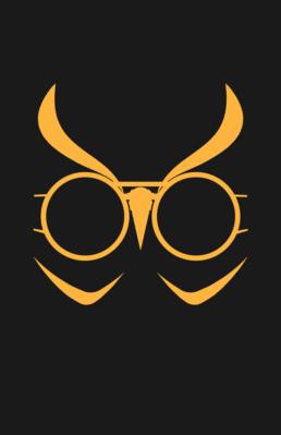 Minimalist design of DC Comics Talon mask by Minimalist Heroes