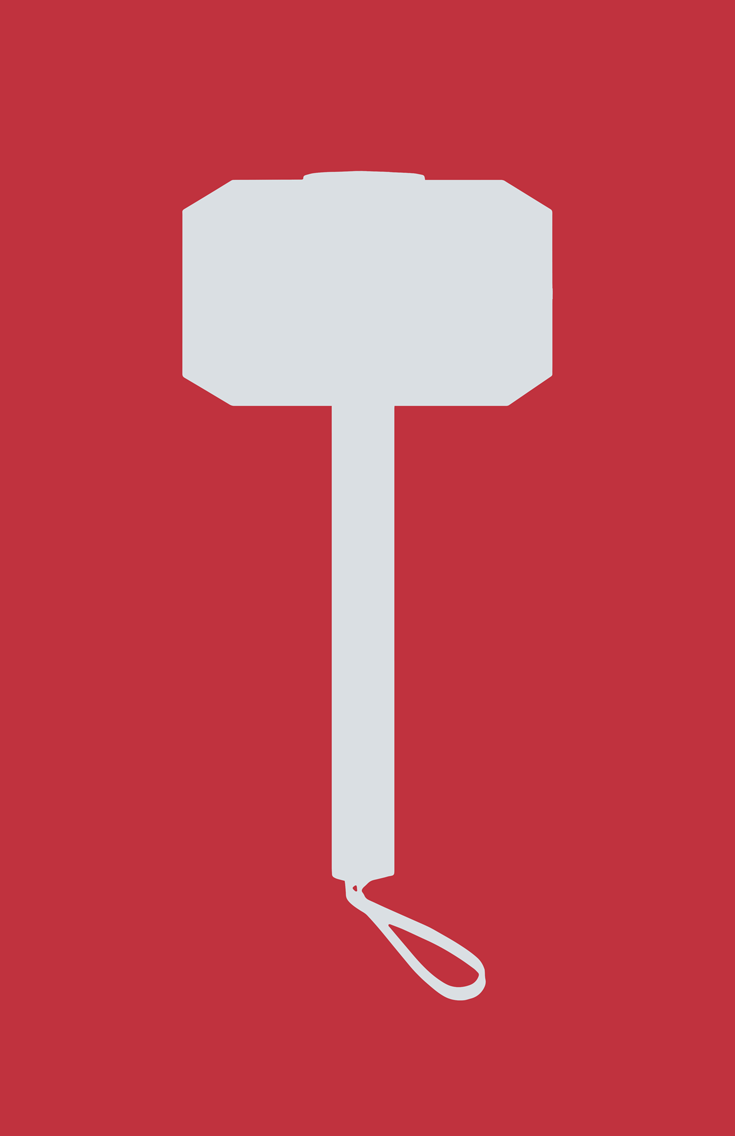 Thor minimalist weapon design by Minimalist Heroes.