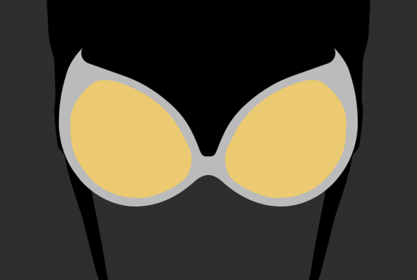 Catwoman minimalist mask design by Minimalist Heroes.