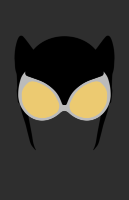 Minimalist design of DC Comics Catwoman mask by Minimalist Heroes