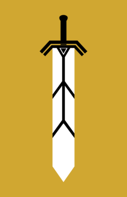 Minimalist design of Marvel's Magik weapon by Minimalist Heroes