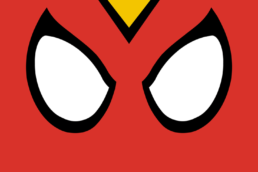 Minimalist design of Marvel's Spider-Woman mask by Minimalist Heroes