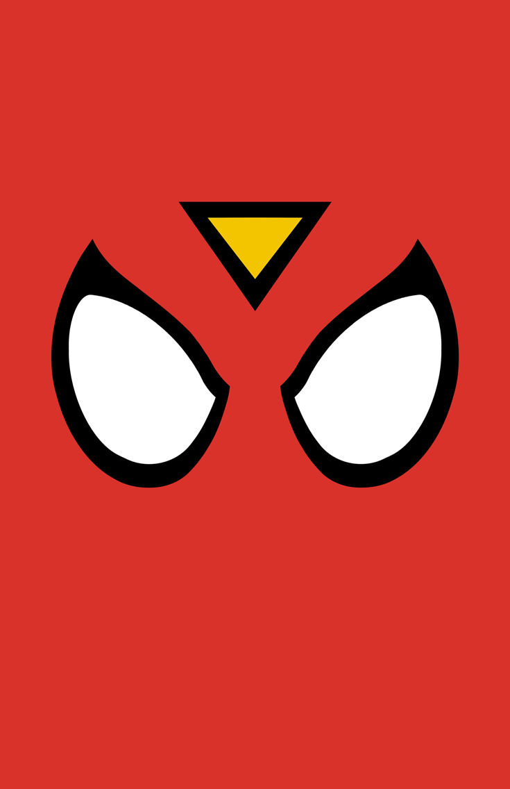 Spider-Woman minimalist mask design by Minimalist Heroes.