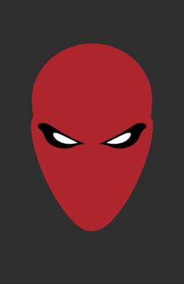 Minimalist design of DC Comics Red Hood helmet by Minimalist Heroes