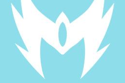 Minimalist design of Marvel's Snowbird mask by Minimalist Heroes