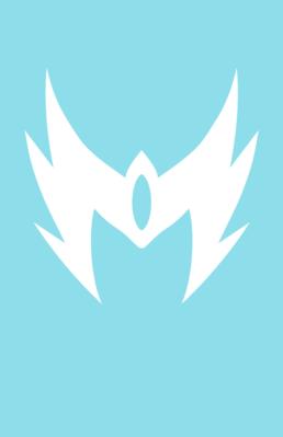 Minimalist design of Marvel's Snowbird mask by Minimalist Heroes