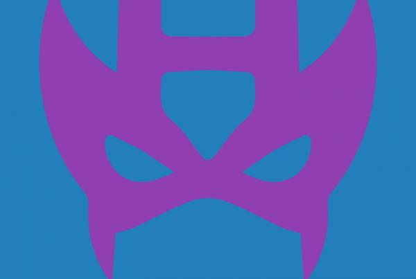 Hawkeye minimalist mask design by Minimalist Heroes.