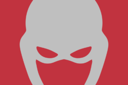 Minimalist design of Marvel's Ant-Man helmet by Minimalist Heroes