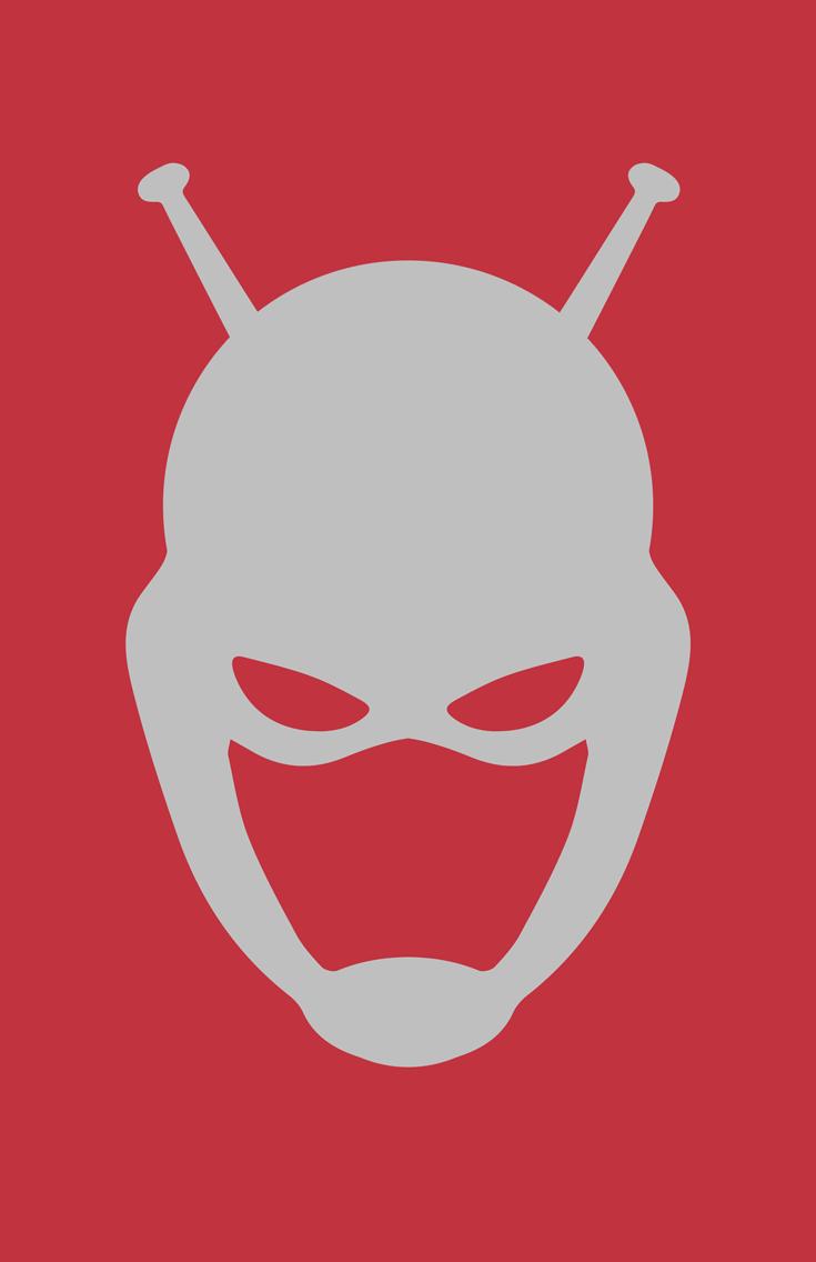 Ant-Man minimalist helmet design by Minimalist Heroes.