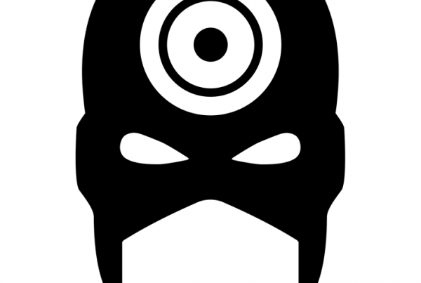Bullseye minimalist mask design by Minimalist Heroes.