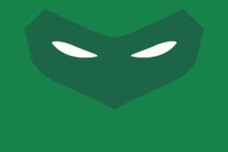 Minimalist design of DC Comics Green Lantern (Hal Jordan) mask by Minimalist Heroes