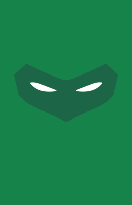 Minimalist design of DC Comics Green Lantern (Hal Jordan) mask by Minimalist Heroes