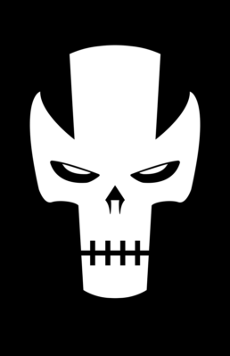 Minimalist design of Marvel's Crossbones mask by Minimalist Heroes