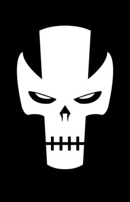 Minimalist design of Marvel's Crossbones mask by Minimalist Heroes