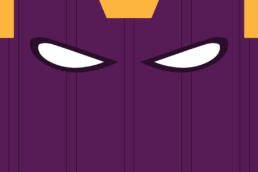 Minimalist design of Marvel's Baron Helmut Zemo mask by Minimalist Heroes