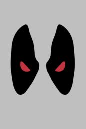 Minimalist design of Marvel's Deadpool mask (X-Force) by Minimalist Heroes