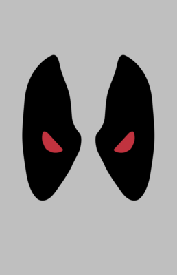 Minimalist design of Marvel's Deadpool mask (X-Force) by Minimalist Heroes