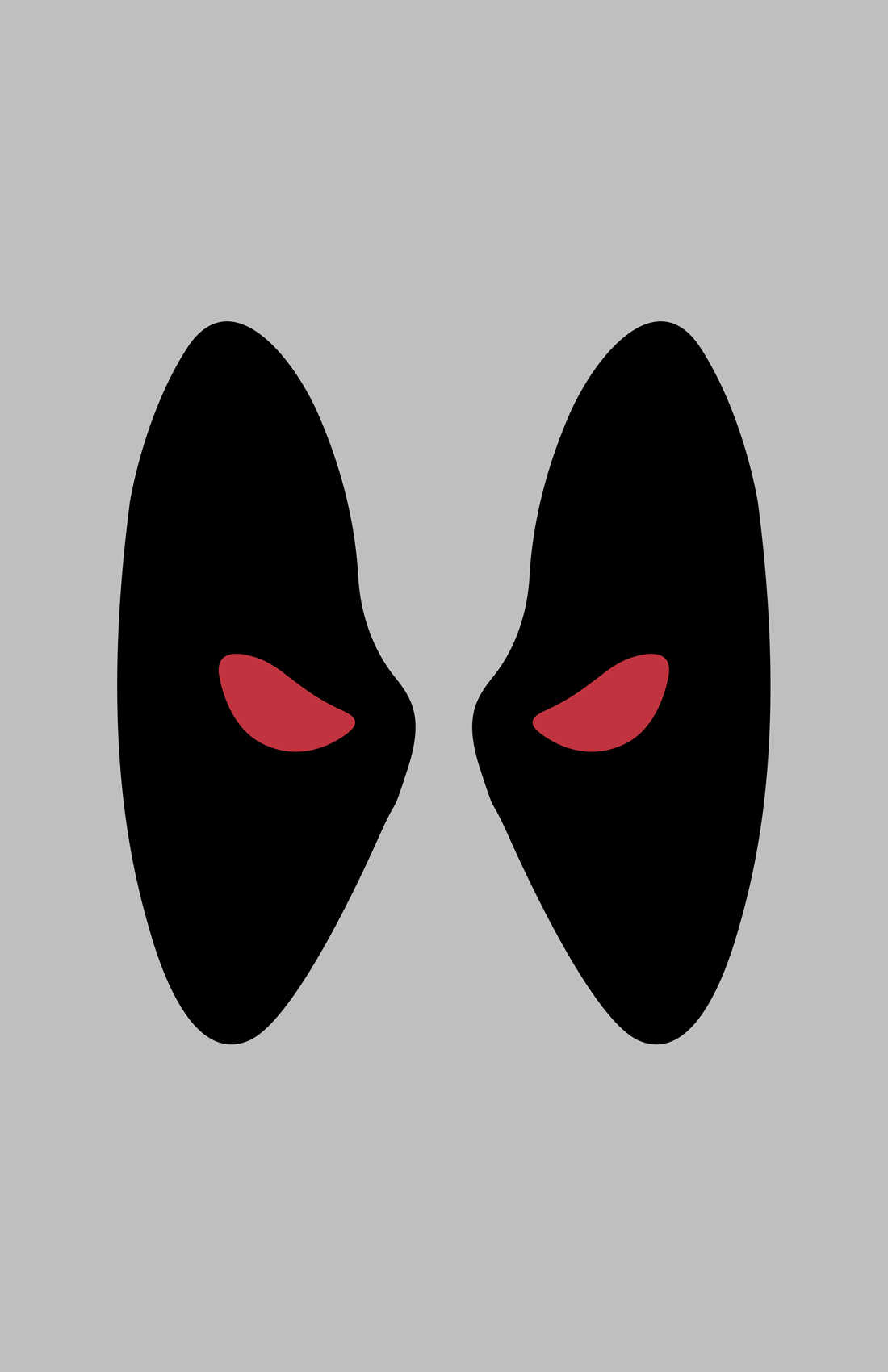 Deadpool X-Force minimalist mask design by Minimalist Heroes.