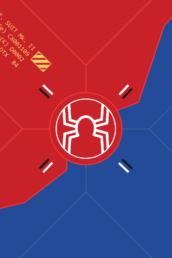 Minimalist design of Marvel's SP//dr suit by Minimalist Heroes