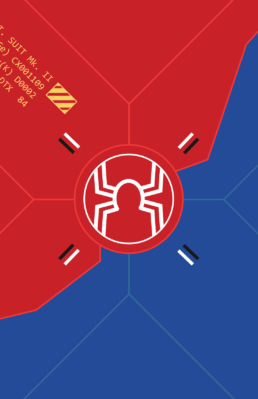Minimalist design of Marvel's SP//dr suit by Minimalist Heroes